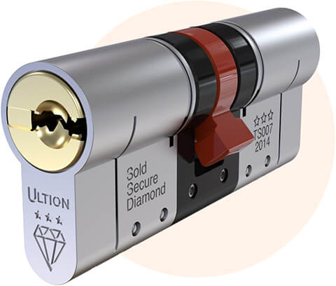 a 3 * diamond, high security anti snap cylinder lock